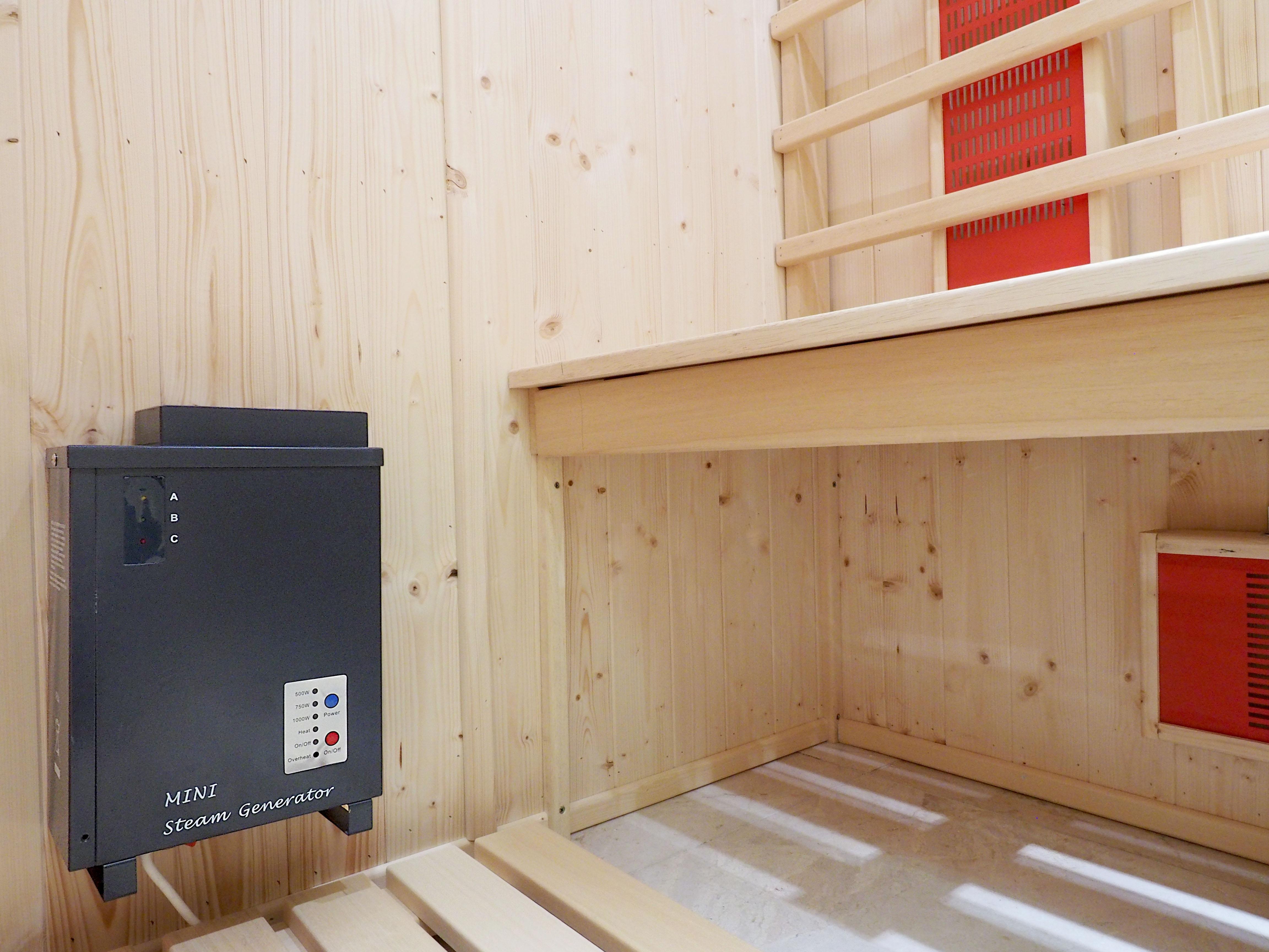 Saunarium en cabina con infrarrojos