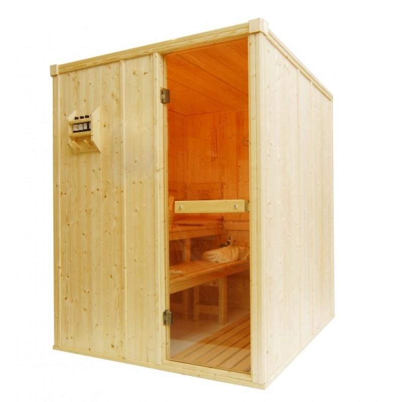Saunarium en cabina de sauna tradicional finlandesa
