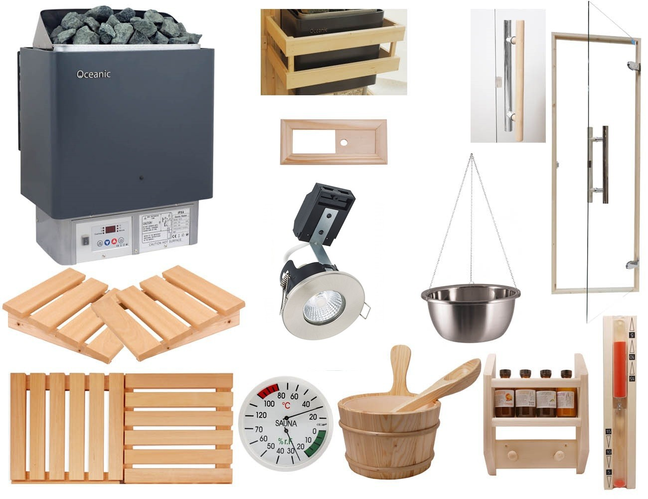 Domestic Deluxe Sauna Kit with Built in Control Heater