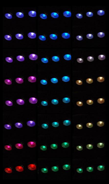 12V Steamroom Chromotherapy Lights (x10)