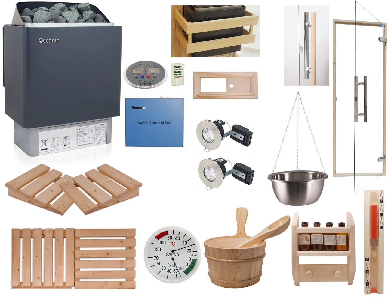 Celebration Home Sauna Kit with OCSB Controls