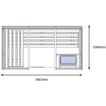 OS1530 Sauna Cabin