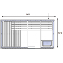 OS2040 Sauna Cabin