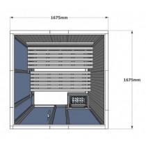 V2525 Vision Sauna Cabin