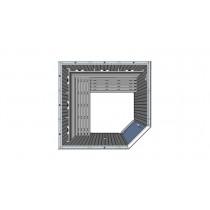 4 Person Commercial Infrared Sauna L Benches & Corner Door IR3030LC