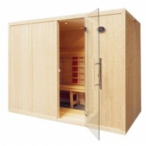 6 Person Home Infrared Sauna L Benches IR2040L