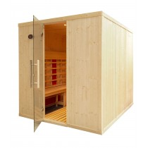 IR3030 INFRARED SAUNA CABIN PARALLEL BENCHES