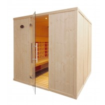 5 Person Commercial Infrared Sauna L Benches - IR3030L