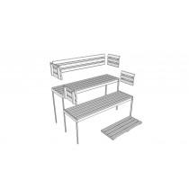 D2025 - Sauna Bench, Backrest & Floor Mat Kit