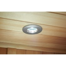 Finnish Sauna White 12v Fire Rated Downlight Kit - Chrome