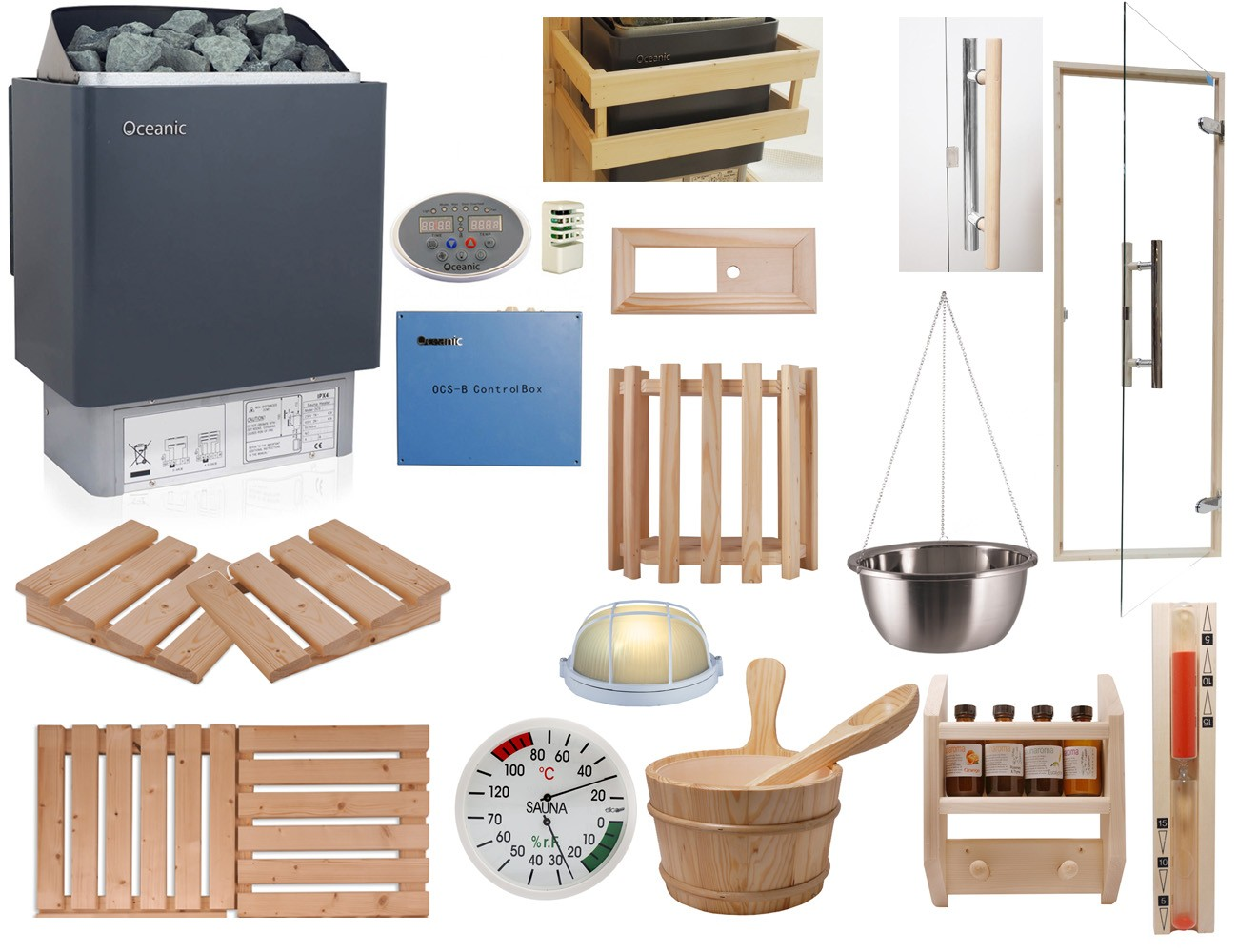 Construire Un Sauna Finlandais kit sauna celebration, poêle avec commande déportée ocsb