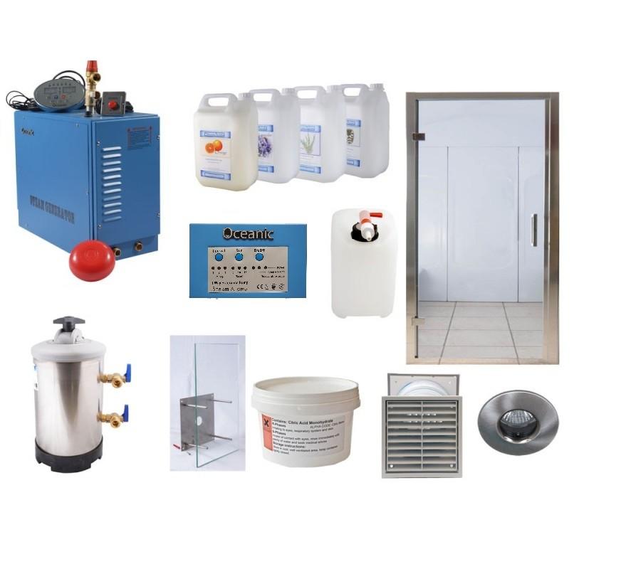 Kit de instalación: baño de vapor para uso comercial Oceanic Saunas