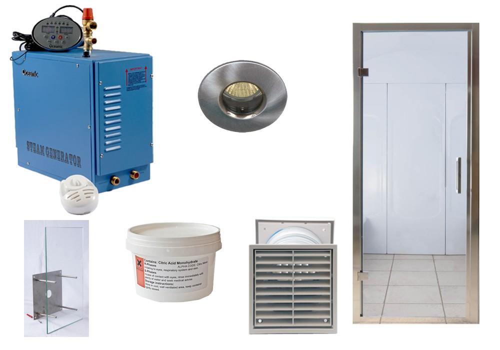 Kit de instalación: baño de vapor para casa Oceanic Saunas