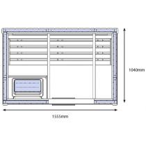 Cabina de sauna finlandesa - 2 personas - OS1525