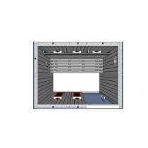 Cabina de sauna con infrarrojos - 3 personas - IR2025