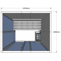 Cabina de sauna finlandesa Vision 2 Personas – V2025