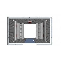 Cabina de sauna infrarrojos - 4 personas - bancos paralelos - IR2030