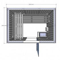 Cabina de sauna Saunarium, 2-3 personas - D2030