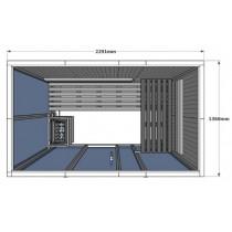 Cabina de sauna finlandesa Vision 4 Personas – V2035