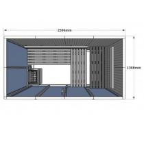 Cabina de sauna finlandesa Vision 5 Personas – V2040