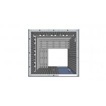 Cabina de sauna infrarrojos - 4 personas - bancos en L - IR2525L
