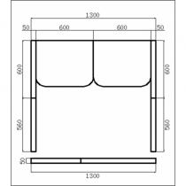 Baño de vapor romano prefabricado, para 2 personas