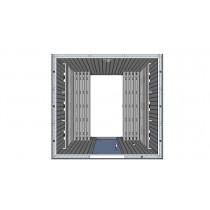 Cabina de sauna con infrarrojos, bancos paralelos - uso comercial - 6 personas - IR3030