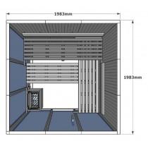 Cabina de sauna finlandesa Vision 4-5 Personas – V3030