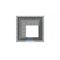 Cabina de sauna con infrarrojos, bancos en L - uso comercial - 5 personas - IR3030L