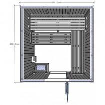 Cabina de sauna Saunarium, 3-5 personas - D3030