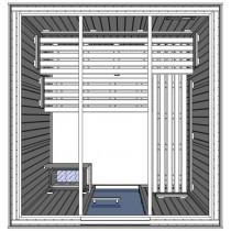 Cabina de sauna finlandesa - 5 personas - OSC3030 - Comercial light duty