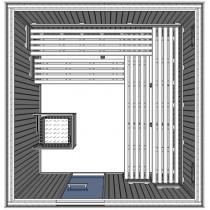 OSC4040 - Cabina de sauna finlandesa tradicional comercial light duty - para 10 personas - uso comercial ligero Oceanic Saunas