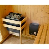 Saunarium: calentador de sauna 4.5kW combinado con un mini generador de vapor 1kW