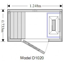 Cabina de sauna finlandesa - 1 persona - OS1020