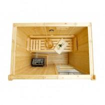 Bancos, respaldos y tablillas de suelo para sauna - Kit D1525