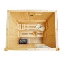 Bancos, respaldos y tablillas de suelo para sauna - Kit D2025