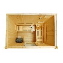 Bancos, respaldos y tablillas de suelo para sauna - Kit D2030