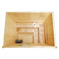 Bancos, respaldos y tablillas de suelo para sauna - Kit D3040