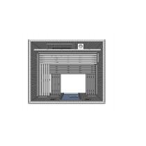 Cabina de sauna finlandesa, 12-14 personas, uso comercial intensivo, calentador oculto, HD4050BB