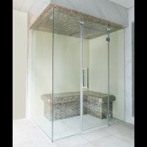 Baño de vapor turco con mosaico, uso comercial, para 2 personas. Modelo 2D