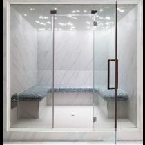 Baño de vapor turco con mosaico, uso comercial, para 6 personas. Modelo 5C