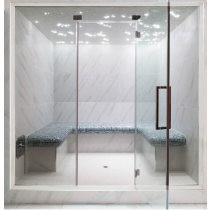 Baño de vapor turco con mosaico, doméstico, para 6 personas. Modelo 5C