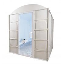 Baño de vapor romano prefabricado, uso comercial, para 6 personas