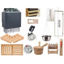Kit de instalación para sauna finlandesa - Calentador con control integrado *Deluxe*