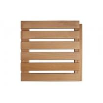 Tablilla de suelo para sauna, 50x50cm - Deluxe