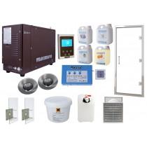 Kit de instalación: baño de vapor para uso intensivo Oceanic Saunas