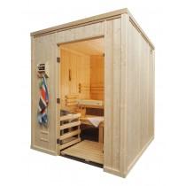 Cabina de sauna finlandesa, 9-12 personas, uso comercial intensivo, calentador con patas, HD4040FS