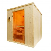 Cabina de sauna finlandesa, 5 personas, uso comercial intensivo, calentador oculto, HD3030BB