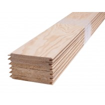 Tarima de Hemlock para revestimiento de sauna finlandesa - machihembrado - 9mm