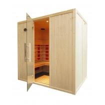 Cabina de sauna infrarrojos - 4 personas - bancos en L - IR2030L